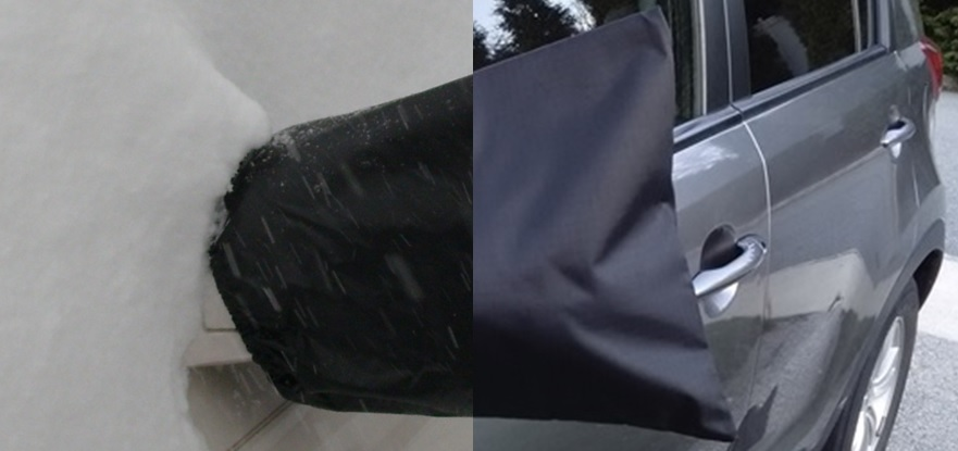 side view mirror covers for winter snow, ice, frost, freezing rain